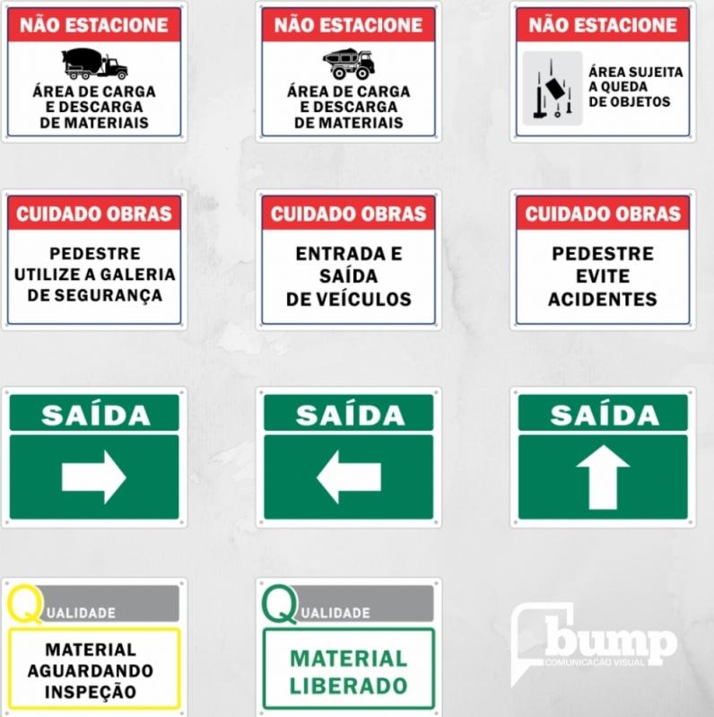 sinalização de segurança na construção civil