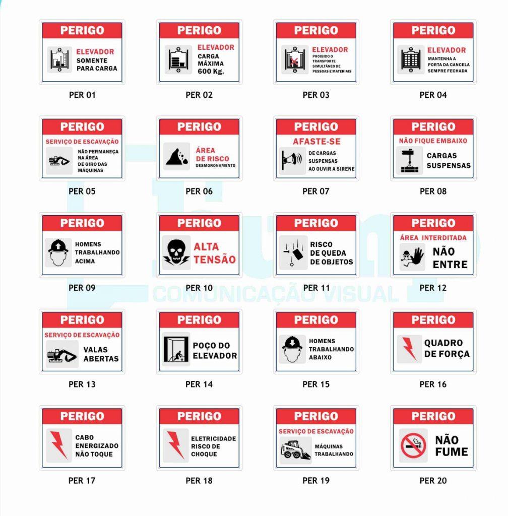 sinalização para construção civil