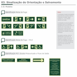 placa de sinalização de segurança cotação Pirambóia