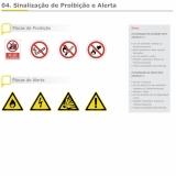 placa de sinalização de emergência