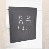 placas de sinalização banheiro Pompéia
