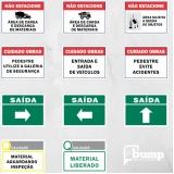 quanto custa placa de sinalização de segurança Amparo